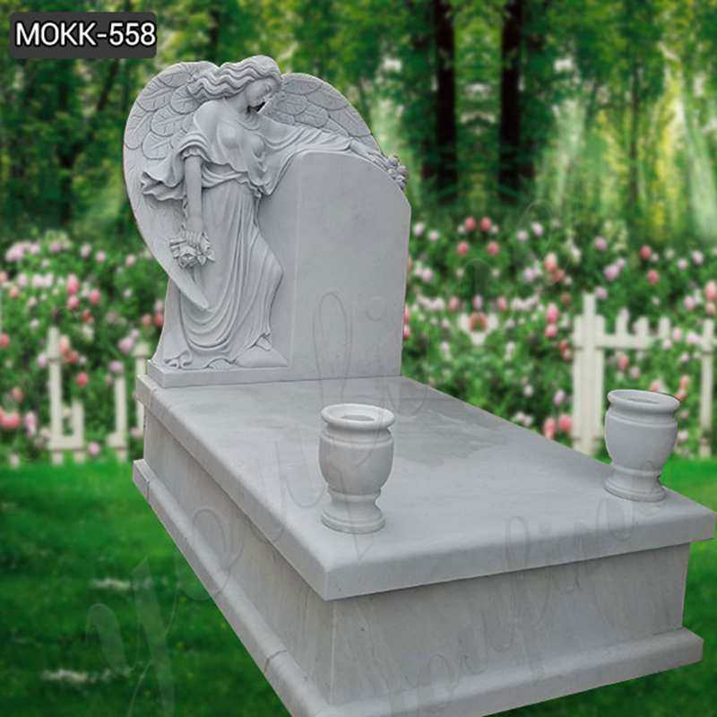 Where to Buy White Marble Angel Headstones for Graves - 副本
