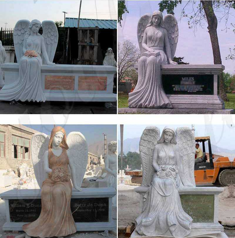 Where to Buy White Marble Angel Headstones for Graves Online