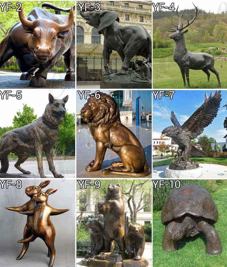 bronze animal