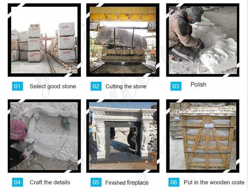 cast marble fireplace for sale