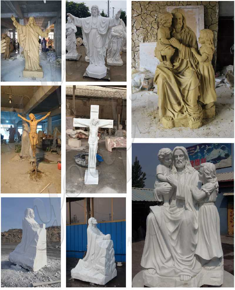 life size marble jesus sculpture