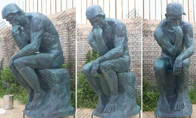 life size world famous bronze sculpture the thinker statue replica for sale
