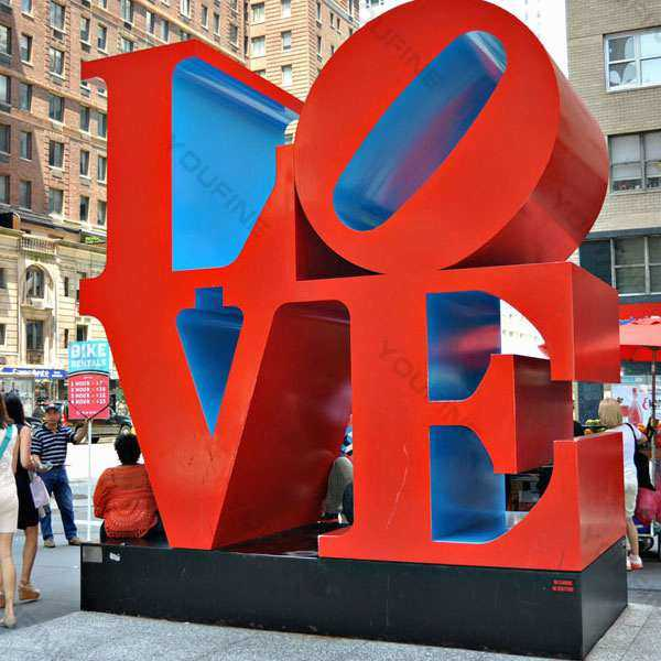 How to Maintain Stainless Steel Love Sculpture