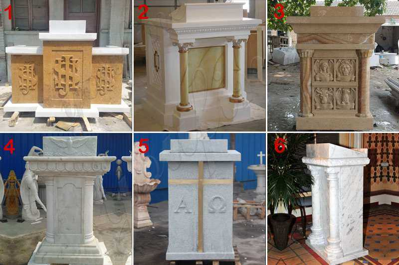 natural marble religious church pulpit