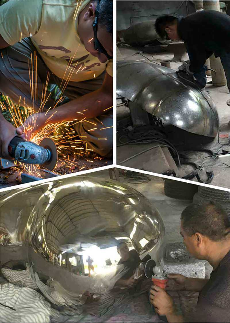 process of stainless steel abstract sculpture for sale
