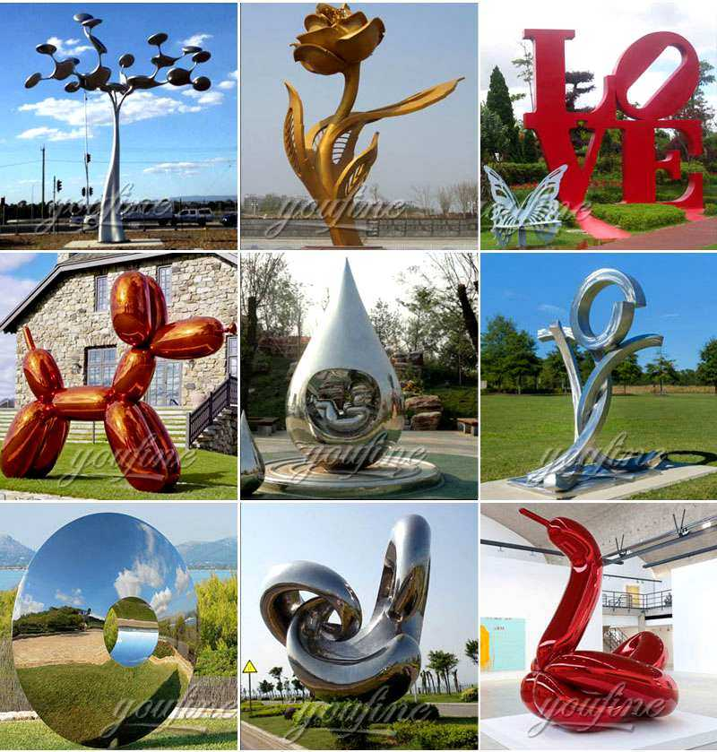 stainless steel love sculpture manufacturers