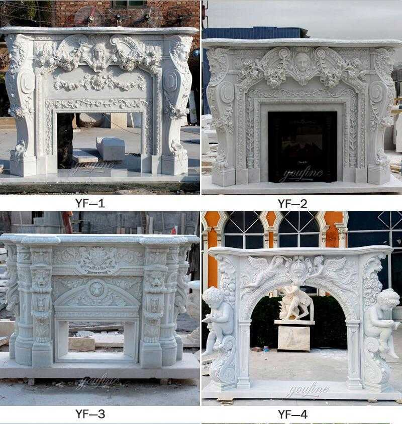 white marble fireplace surround for sale