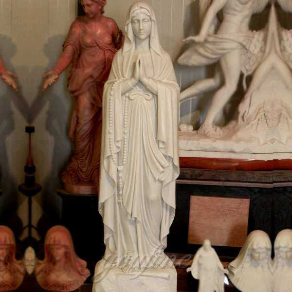 white marble our lady of lourdes statue for sale