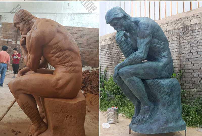 world famous bronze sculpture the thinker statue replica for sale