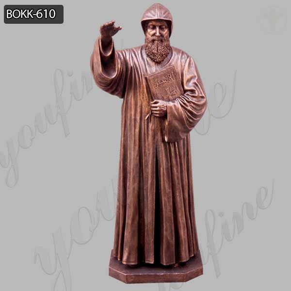 Bronze religious saint charbel outdoor garden statues