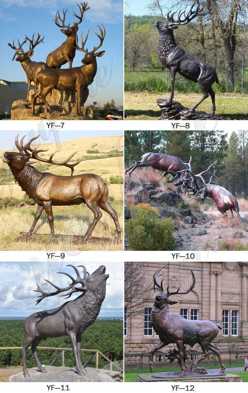 Bronze stag statue for sale