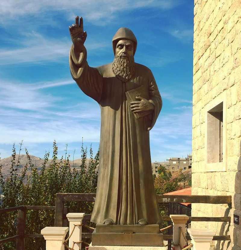 Catholic saint charbel prayer in english bronze religious garden statues to buy
