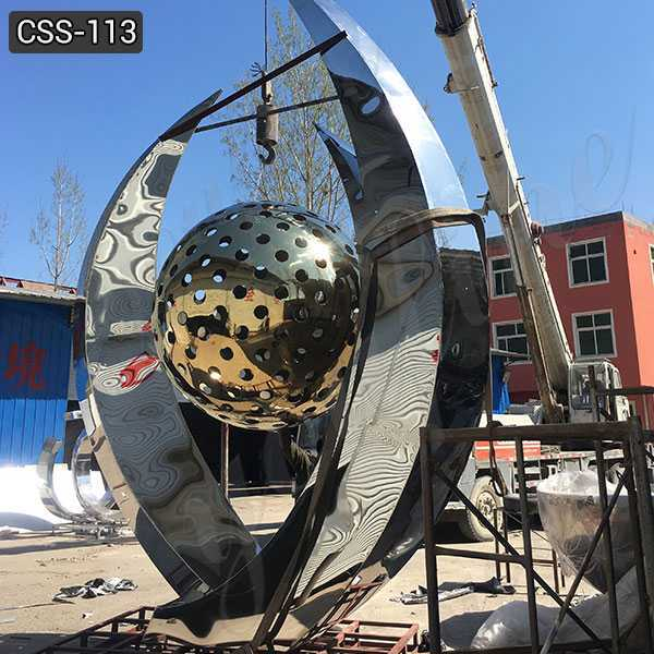 Cheap Price Abstract Large Stainless Steel Ball Sculpture