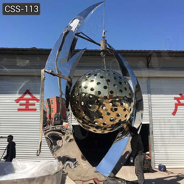 Cheap Price Large Stainless Steel Ball Sculpture for Sale