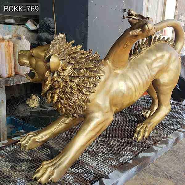 Chimera Bronze Spitfire Three Monster Statue for Sale