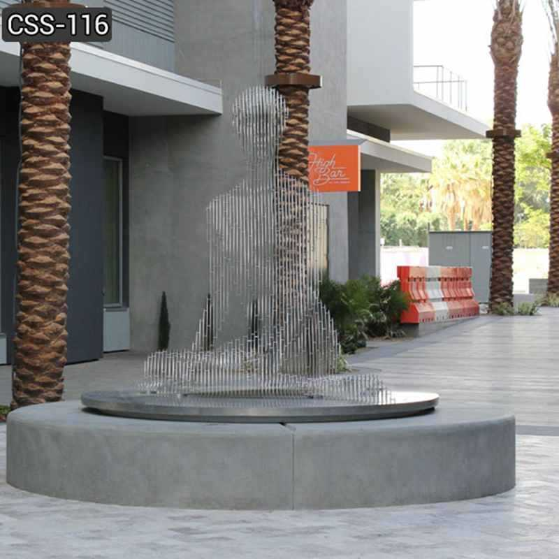Contemporary Outdoor Stainless Steel Isabelle Sculptures