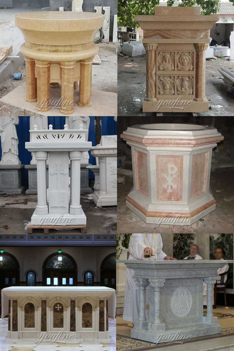 Custom Made Marble Religious Church Pulpit for Sale