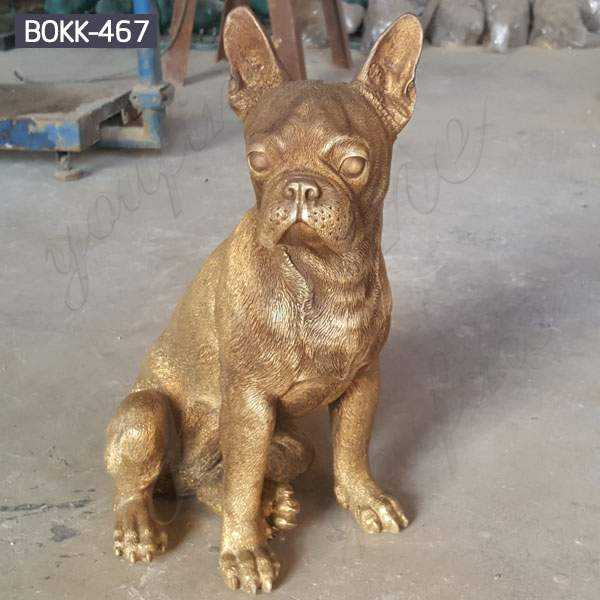 Custom Made Small Bronze French Bulldog Statue for Sale BOKK-467