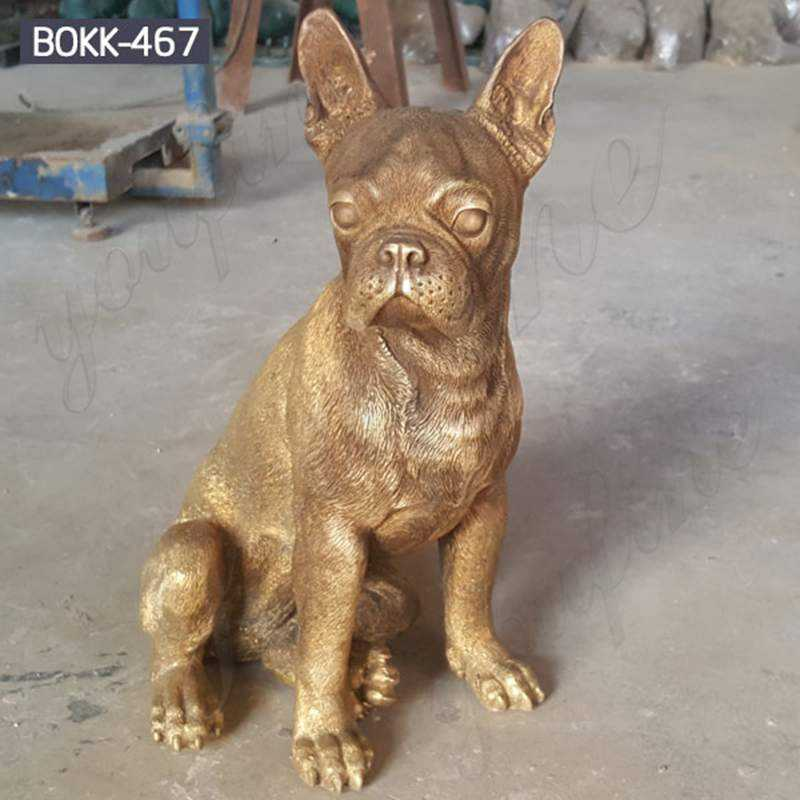 Custom Made Small Bronze French Bulldog Statue