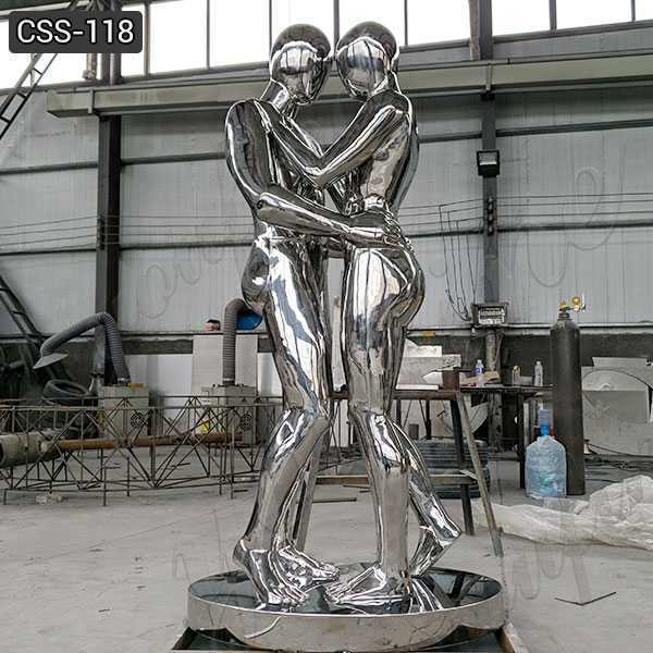 Custom Made Stainless Steel Figurative Metal Sculpture for Sale CSS-118
