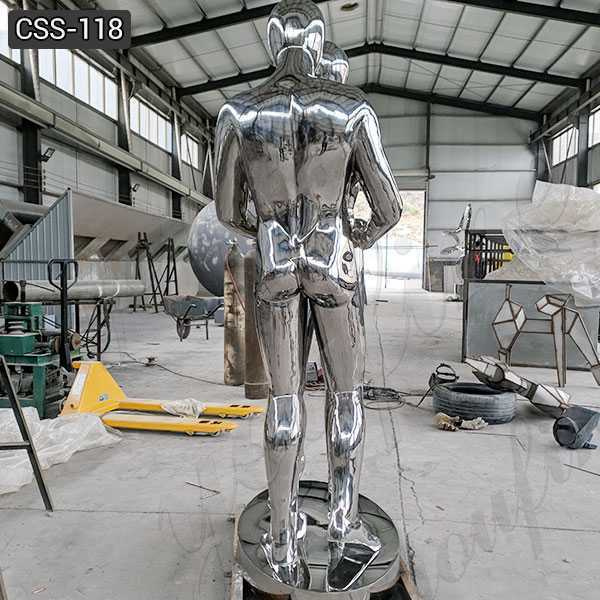 Custom Made Stainless Steel Figurative Metal Sculpture