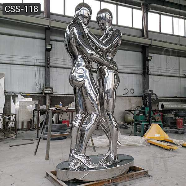 Custom Made Stainless Steel Figurative Sculpture