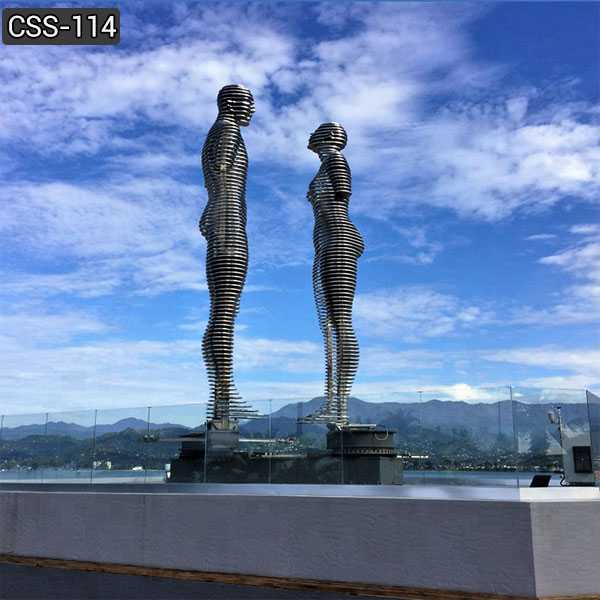 Famous Ali and Nino Stainless Steel Sculpture for Outdoor Decor CSS-114