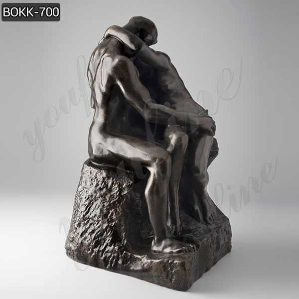 Famous Bronze the Kiss Statue Created by Auguste Rodin