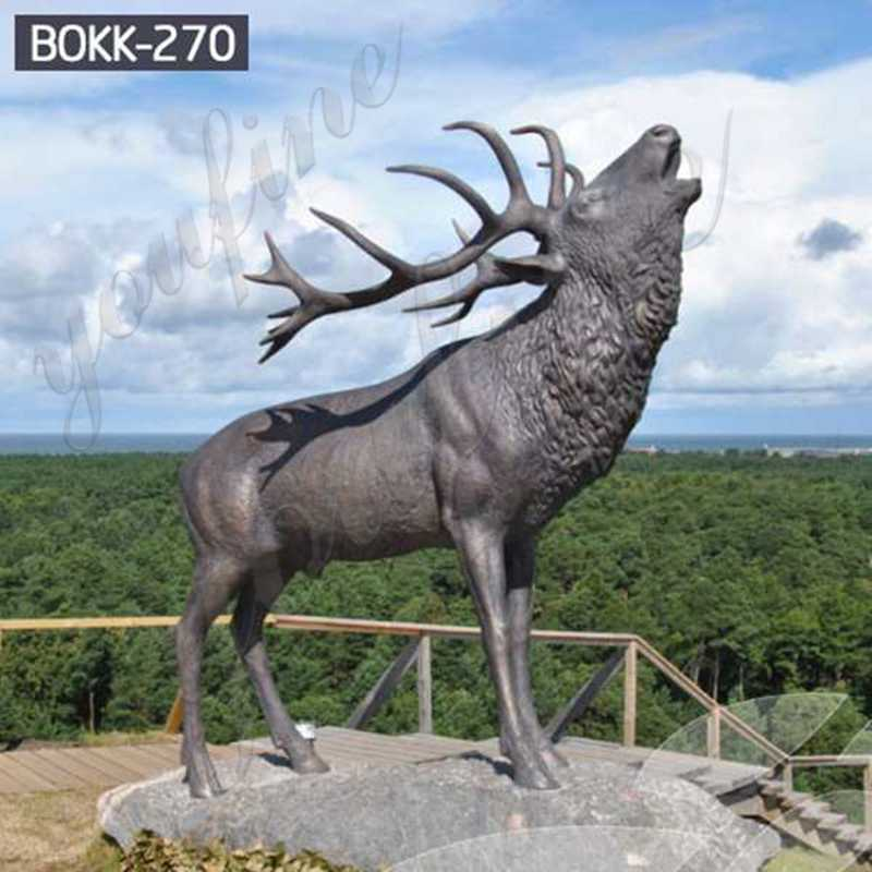 Foundry Direct Outdoor Bronze Life Size Reindeer Statue BOKK-270