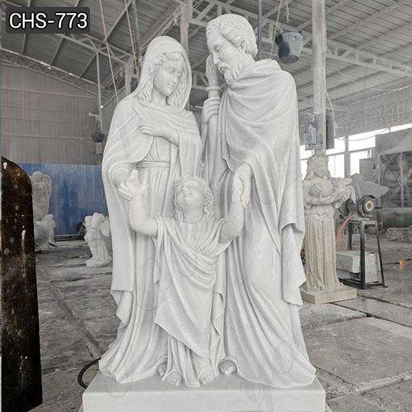 Hand Carved Marble Life Size Holy Family Statue for Sale CHS-773