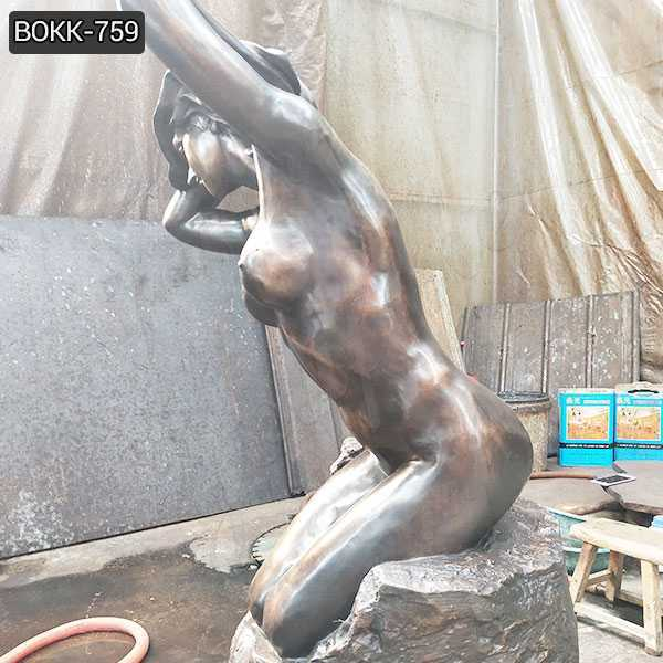 Hand Made Bronze Nude Female Statue for Sale