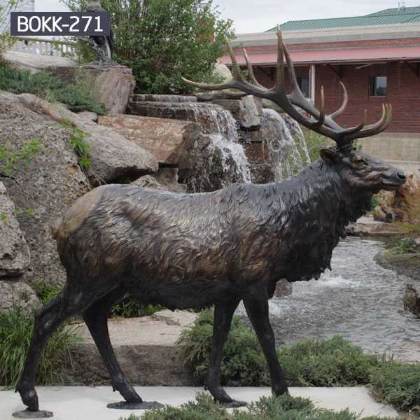 High Quality Outdoor Antique Bronze Stag Statue