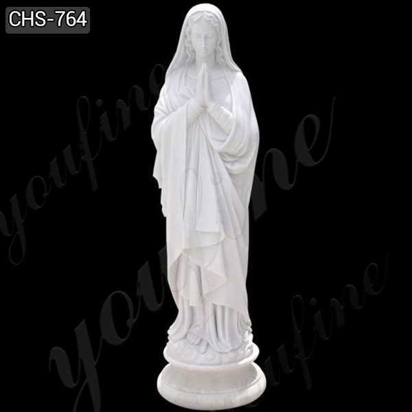 High Quality White Marble Virgin Mary Statue from China Factory