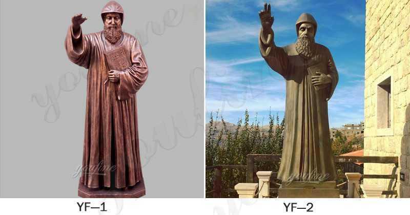 Hot Sale Bronze Saint Charbel Statue for Garden Decor for Sale