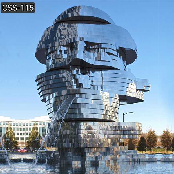 Large Outdoor Metalmorphosis Stainless Steel Sculpture for Sale