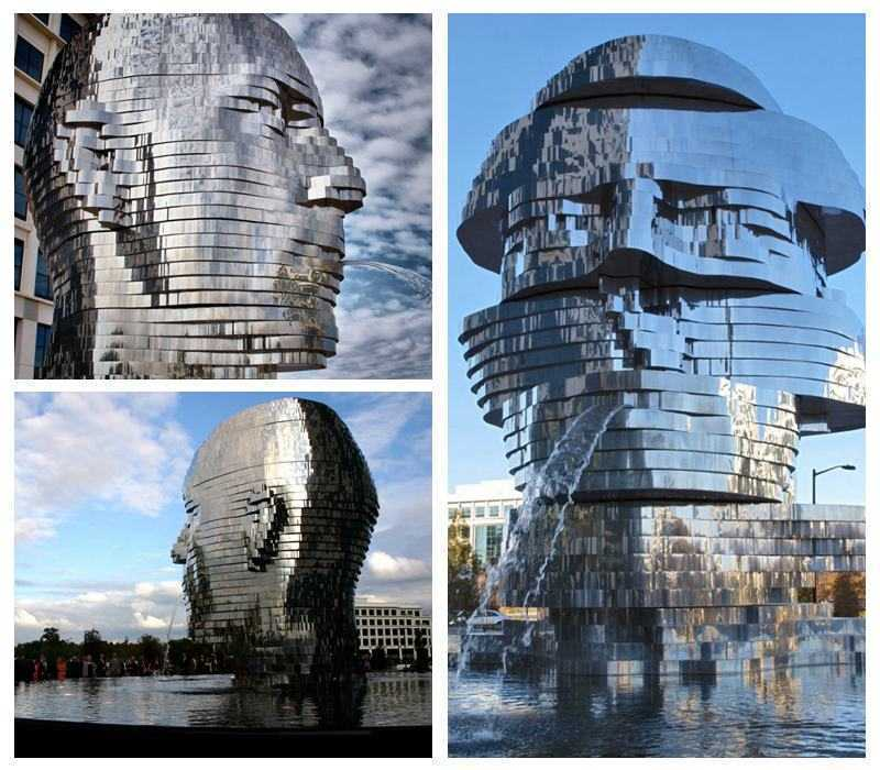 Large Outdoor Metalmorphosis Stainless Steel Sculpture