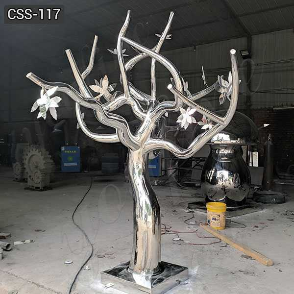 Large Outdoor Modern Metal Stainless Steel Tree Sculpture for Sale