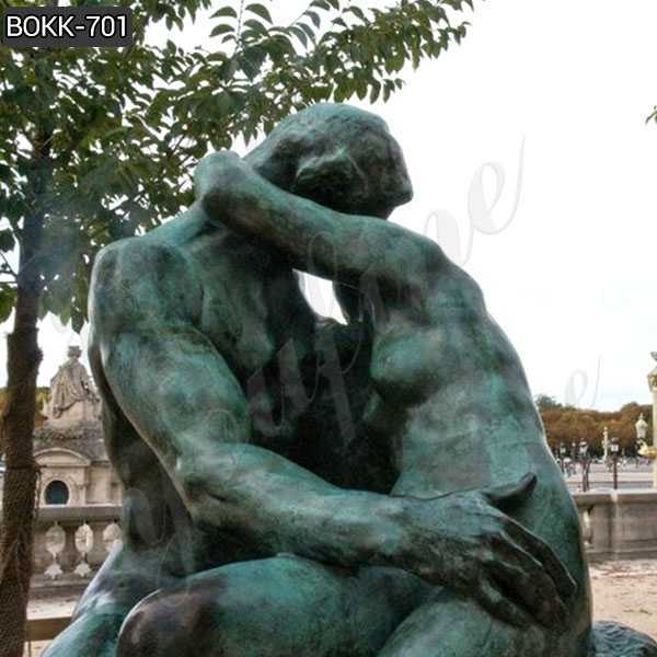 Life Size Antique Auguste Rodin the Kiss Bronze Statue for Outdoor decor