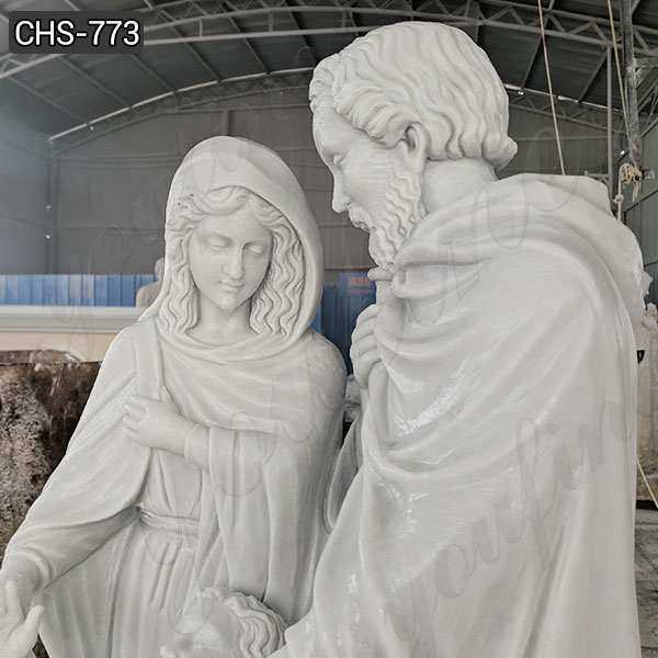 Marble Life Size Holy Family Statue for Sale