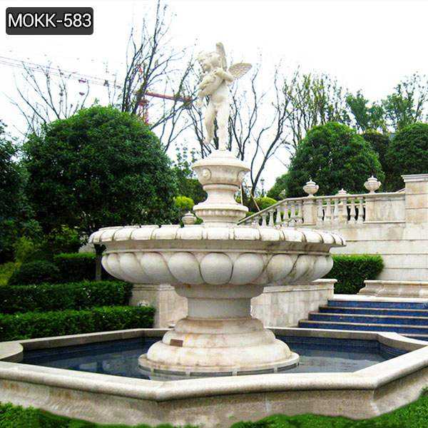 Marble Water Fountain with Little Angel Statue