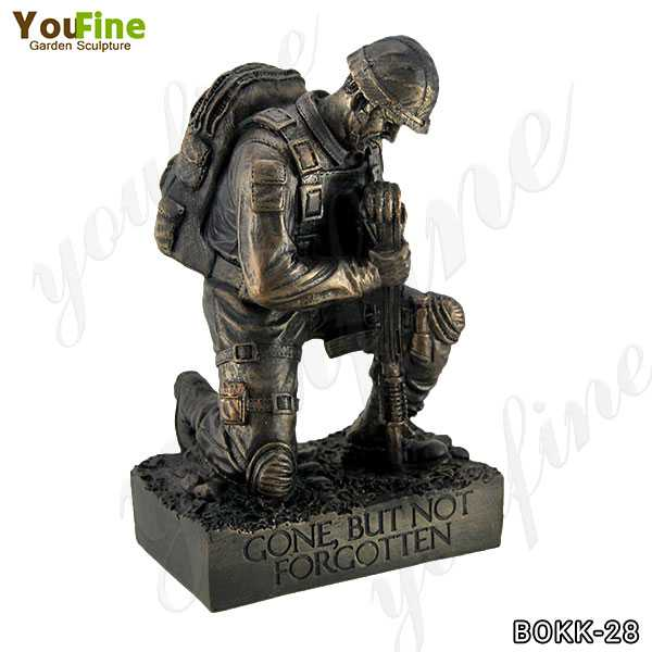 Memorial Bronze Kneeling Solider Statue for Sale BOKK-28