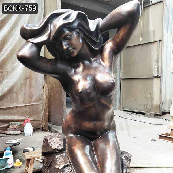 New Design Hand Made Bronze Nude Female Statue for Sale