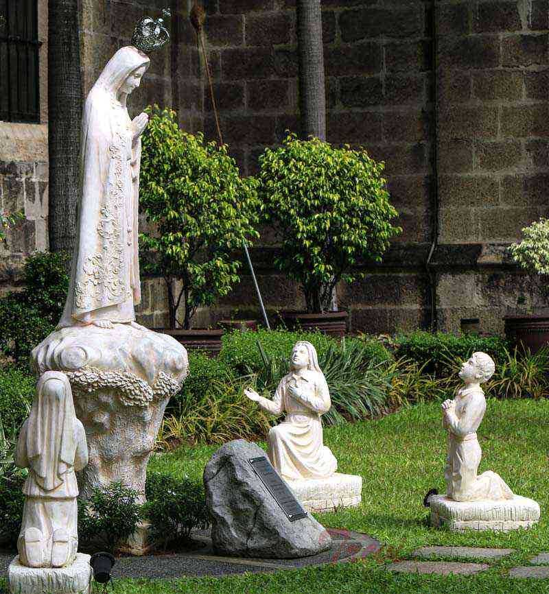 Our Lady of Fatima with Three Children Garden Statue