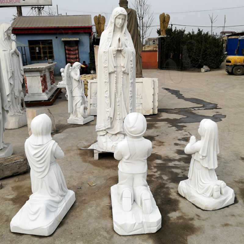Our Lady of Fatima with Three Children Statue