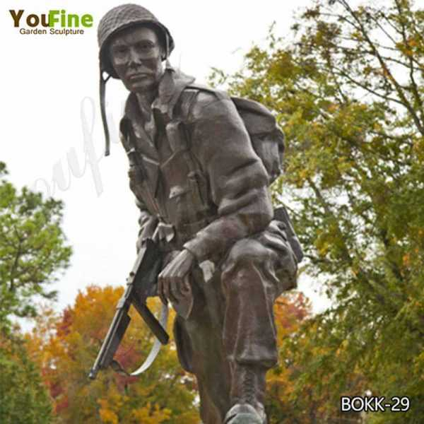 Outdoor Bronze Life Size Military Soldier