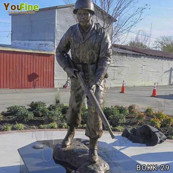 Outdoor Bronze Life Size Military Soldier Statue for Sale BOKK-29