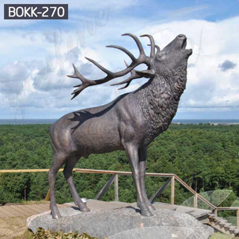 Outdoor Bronze Life Size Reindeer Statue