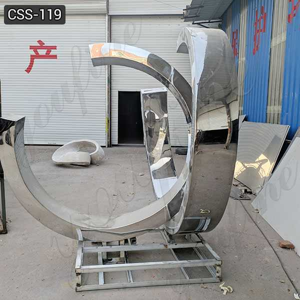 Outdoor Stainless Steel Fountain Sculpture for Sale