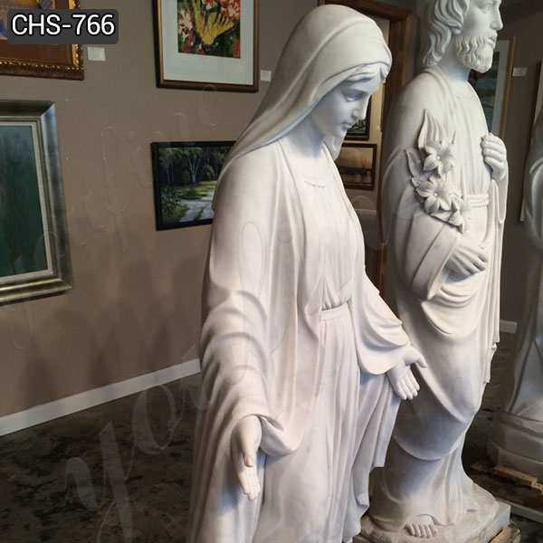 Religious White Marble Our Lady of Grace Statue for sale