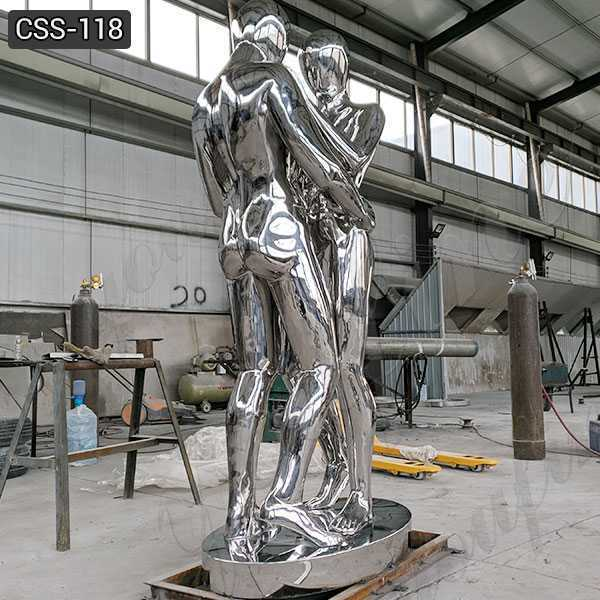 Stainless Steel Figurative Metal Sculpture for Sale